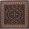 Everest Isfahan Black Area Rug (5'3 Square)