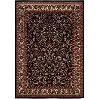 Everest Isfahan Black Area Rug (5'3 x 7'6)