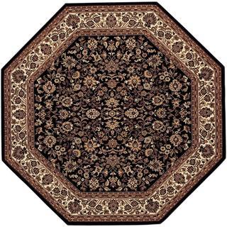 Everest Isfahan Black Area Rug (7'10 Octagon)