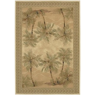 Desert Sand Everest Palm Tree Area Rug (5'3 x 7'6)