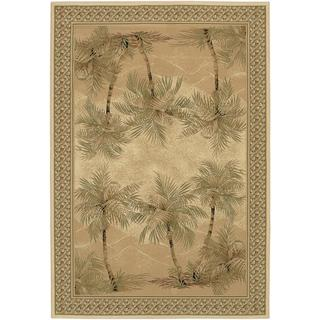 "Everest Palm Tree/Desert Sand 7'10"" x 11'2"" Rug"