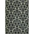 "Everest Retro Damask/Grey-Black 3'11"" x 5'3"" Rug"