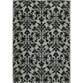 "Everest Retro Damask/Grey-Black 7'10"" x 11'2"" Rug"
