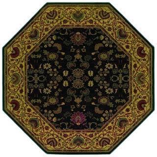 "Everest Tabriz/Midnight 5'3"" Octagon Rug"