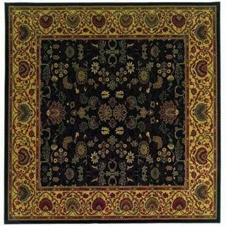 "Everest Tabriz/Midnight 5'3"" Square Rug"