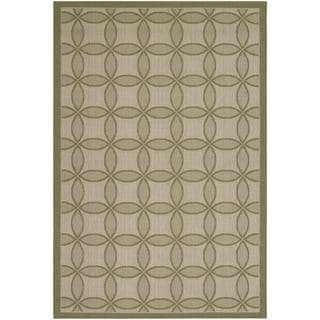 "Five Seasons Retro Clover/Green-Cream 5'10"" x 9'2"" Rug"