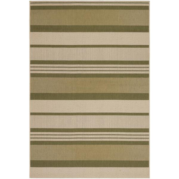 "Five Seasons Santa Barbara/Green-Cream 7'10"" x 10'9"" Rug"