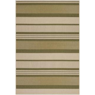 "Five Seasons Santa Barbara/Green-Cream 9'2"" x 12' Rug"