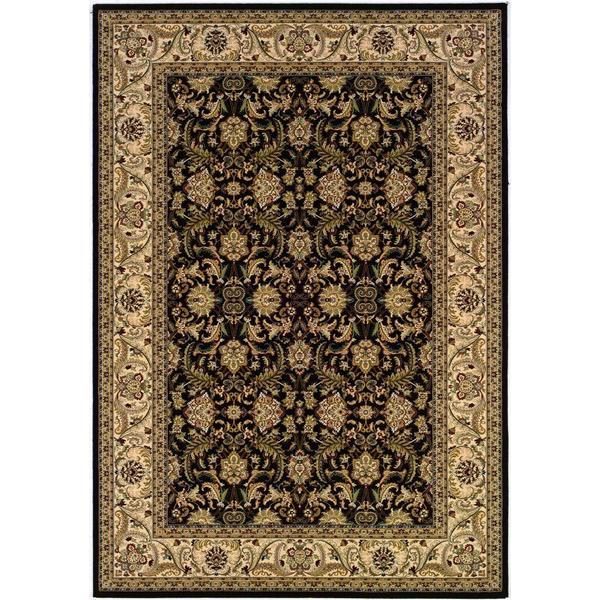 """Himalaya Isfahan/Ebony-Antique Crme 3'11"""" x 5'3"""" Rug"""
