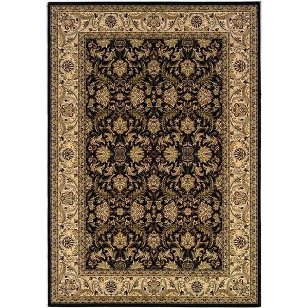 """Himalaya Isfahan/Ebony-Antique Crme 6'6"""" x 9'6"""" Rug"""