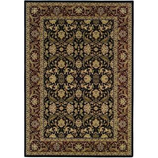 "Himalaya Isfahan/Ebony-Persian Red 7'10"" x 11'2"" Rug"