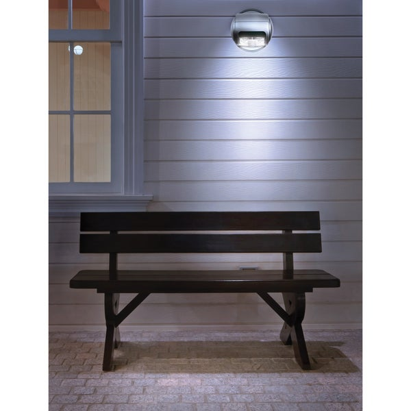 black series wireless led porch light 15730839. Black Bedroom Furniture Sets. Home Design Ideas