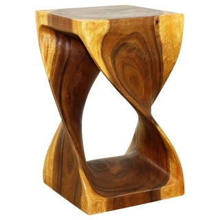 12 x 20-inch Oak Oil Twist Stool (Thailand)