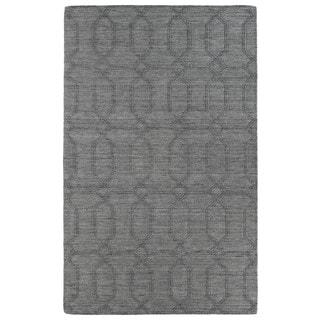 Trends Grey Pop Wool Rug (2' x 3')