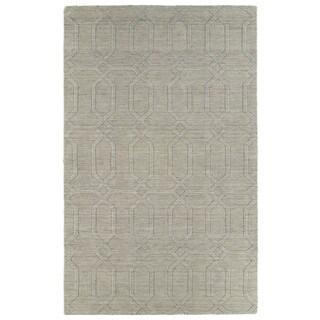 Trends Oatmeal Pop Wool Rug (5' x 8')