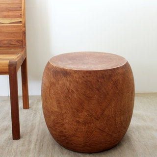 Pouf Light Teak Oil Stool (Thailand)