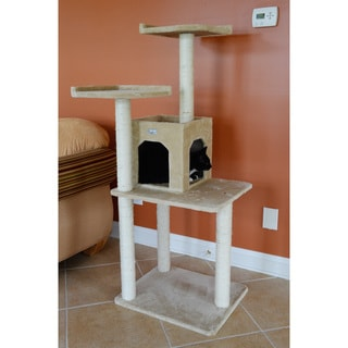 57-inch Faux Fur Cat Tree