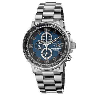 Citizen Men's Nighthawk Titanium Blue Dial Watch