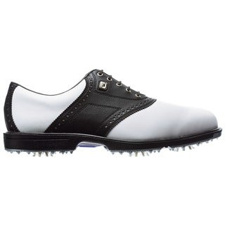 Footjoy Men's Superlite Black and White Saddle Golf Shoes