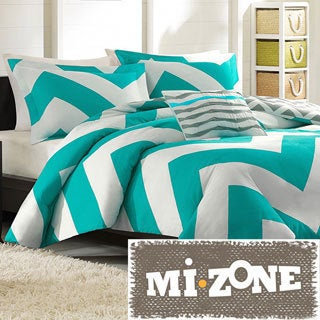 Mizone Aries Reversible Peach Skin 4-piece Duvet Cover Set