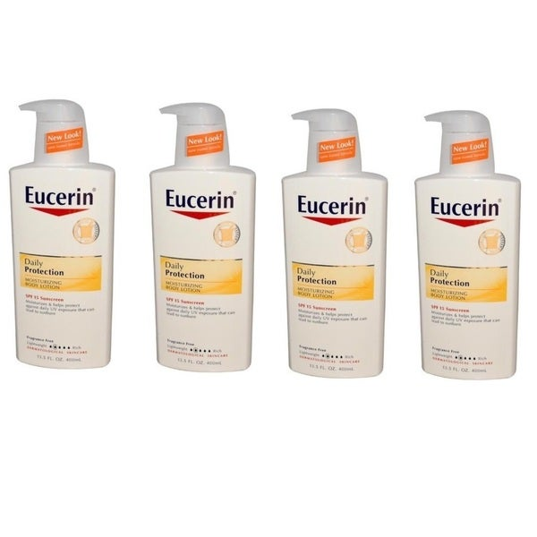 Eucerin Daily Protection 13.5-ounce Moisturizing Body Lotion (Pack of 4)