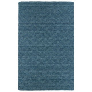 Trends Turquoise Phoenix Wool Rug (8' x 11')