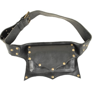 One-pocket Leather Fanny Pack (India)