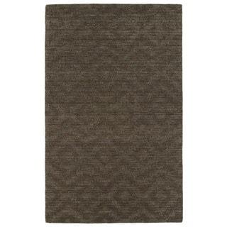 Trends Chocolate Brown Phoenix Wool Rug (9'6x13'6)