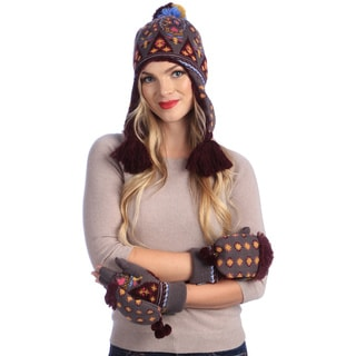 MUK LUKS Faux Fur Lined Helmet and Glove Mitt