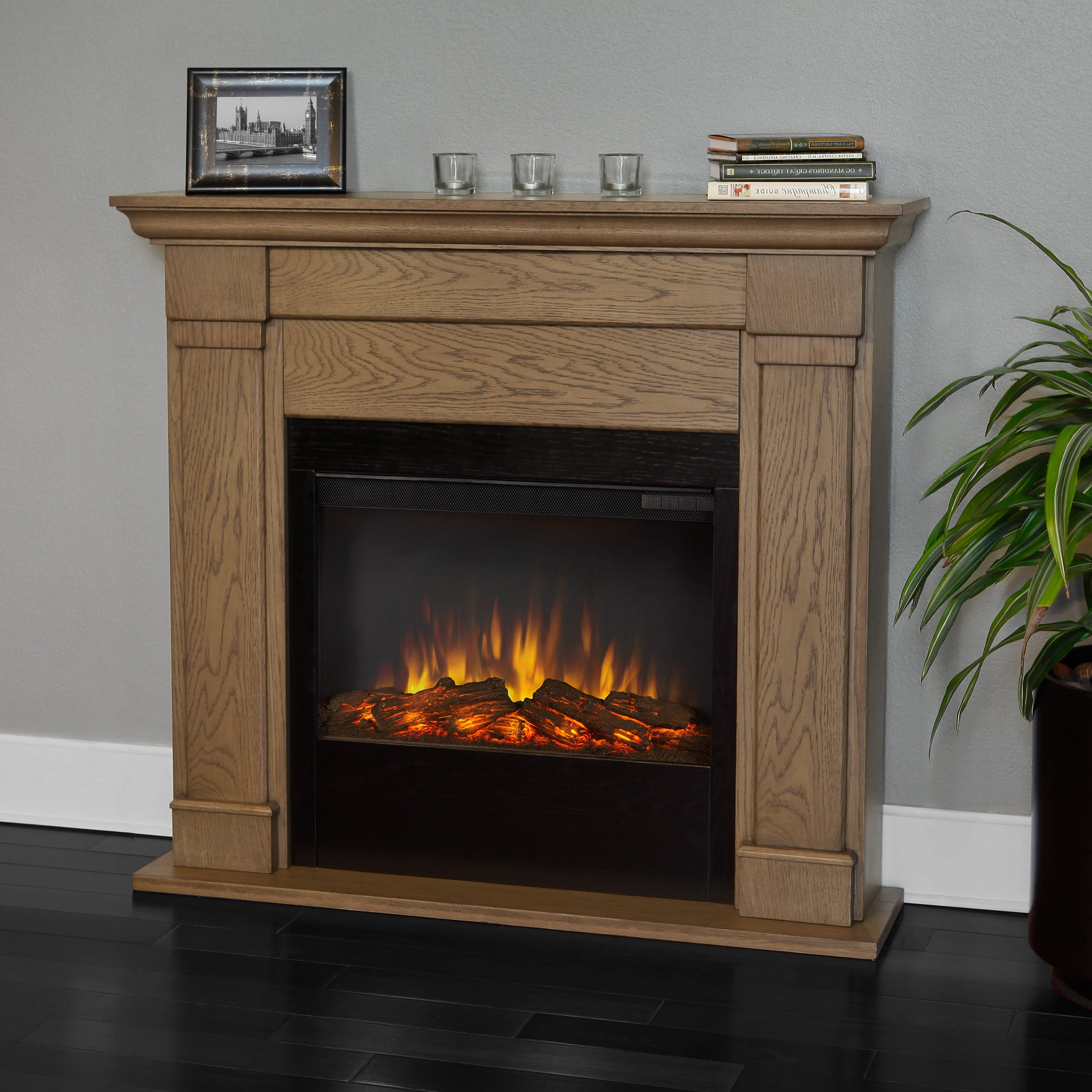 Real Flame Blonde Oak Lowry Electric Fireplace at Sears.com