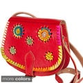Mini Leather Crossbody Flower Bag (Morocco)