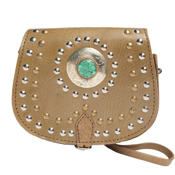 Olive Safi Mini Crossbody Medallion Bag (Morocco)