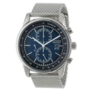 Citizen Men's Stainless Steel Chronograph Blue Dial Watch