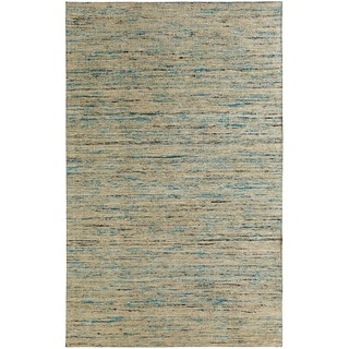 Hand-tufted Loft Multicolored and Beige Variegated Stripe Rug (5' x 8')