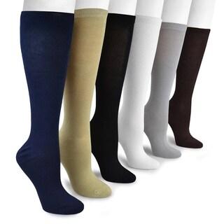 Muk Luks Women's Bamboo Rayon Under-the-Knee Socks (6 Pairs)