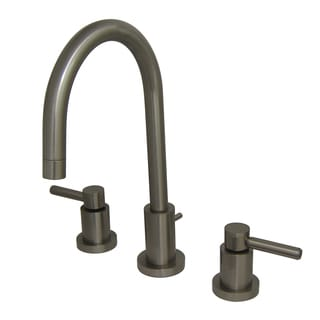 Mini Widespread Polished Satin Nickel Bathroom Faucet