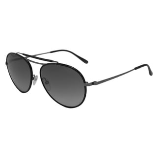 Tom Ford Men's TF0247 Burke Black/Grey Aviator Sunglasses