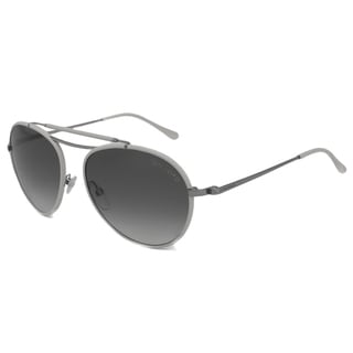 Tom Ford Men's TF0247 Burke White/Gray Aviator Sunglasses