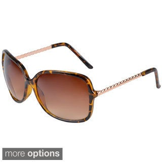 Journee Collection Women's Oversized Fashion Sunglasses with Metal Frame