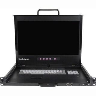 "StarTech.com 1U 17"" HD 1080p Dual Rail Rackmount LCD Console w/ Finge"