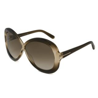 Tom Ford Women's TF0226 Margot Rectangular Brown Sunglasses