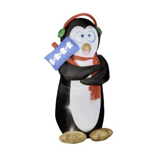 6-foot Animated Airblown Shivering Penguin