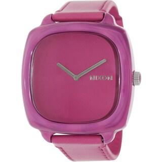 Nixon Women's Shutter Pink Leather Quartz Watch