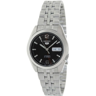 Seiko Men's 5 Automatic SNK391K Silver Stainless-Steel Automatic Watch with Brown Dial