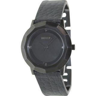 Nixon Women's Bobbi Black Leather Quartz Watch