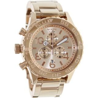 Nixon Men's Rose-gold Quartz Watch