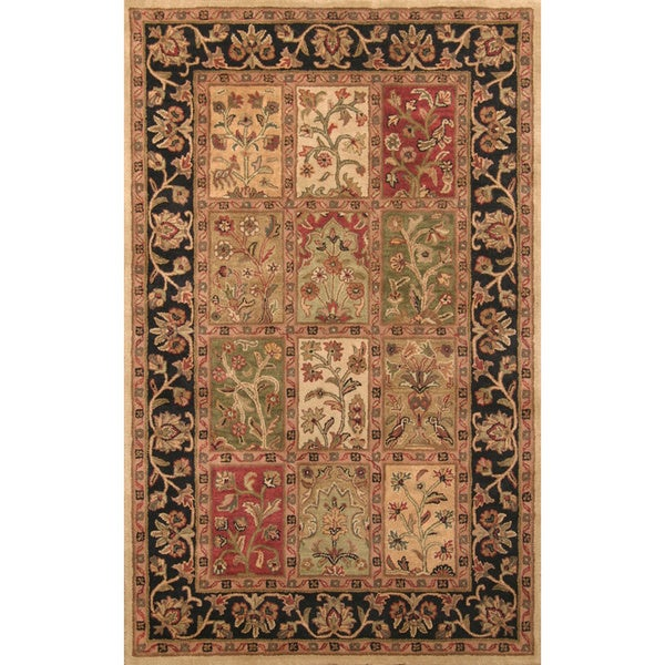 Harmony Black/ Gold Area Rug (3.6' x 5.6')