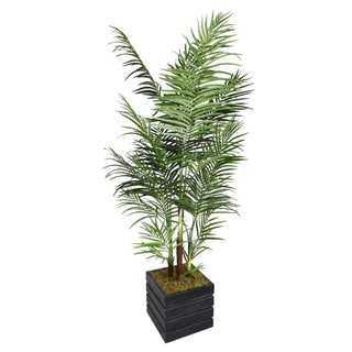 Laura Ashley 82-inch Tall Areca Palm Tree in 14-inch Fiberstone Planter