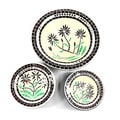 Handcrafted Set of 3 Round Mosaic Decorative Bowls