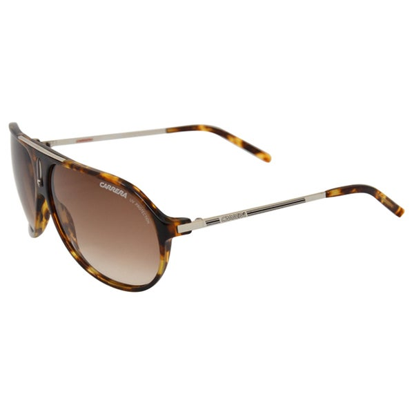 Carrera Unisex Havana Brown Round Sunglasses